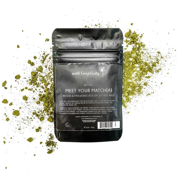 Meet Your Match (a), Matcha and Hyaluronic Acid Dry Defense Mask, .5oz