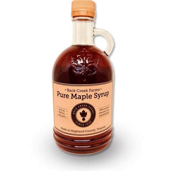 Back Creek Farms Virginia Maple Syrup - Pint Glass Jug