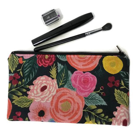 Virginia Girl Design Floral Zipper Pouch