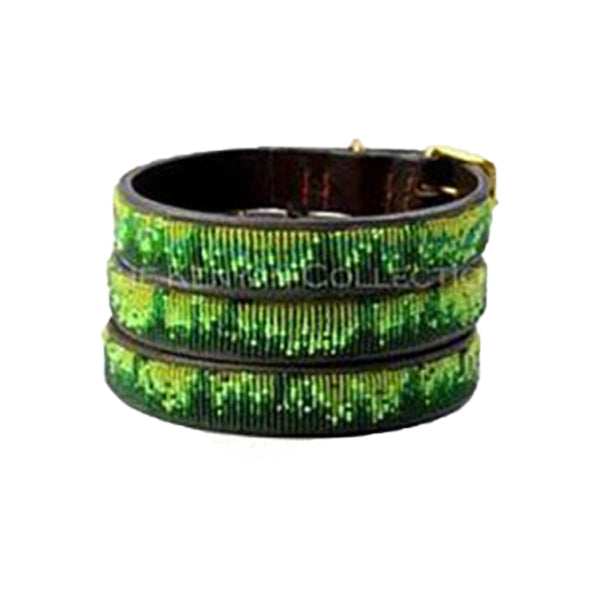 Rainforest Beaded, Dog Collar