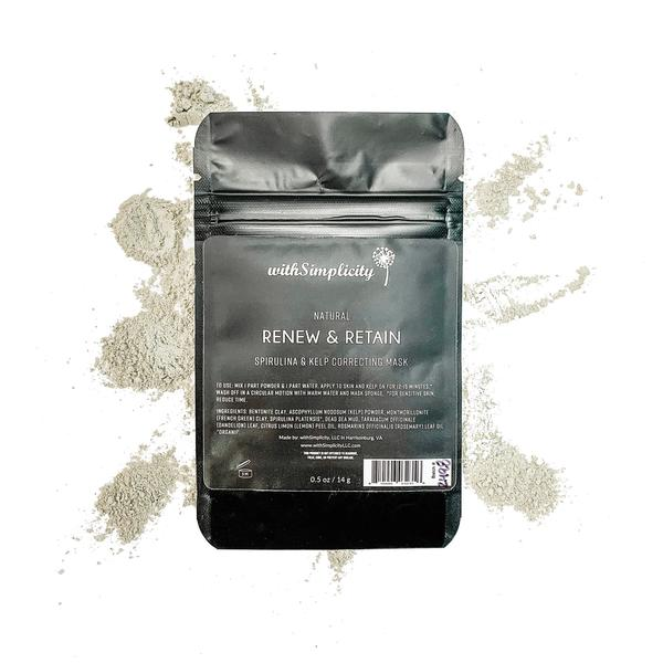 Renew and Retain, Spirulina and Kelp Correcting Mask, .5oz