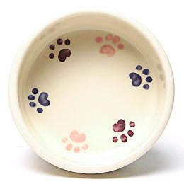Pet Bowl, Walking Paws Small Pink, 16oz