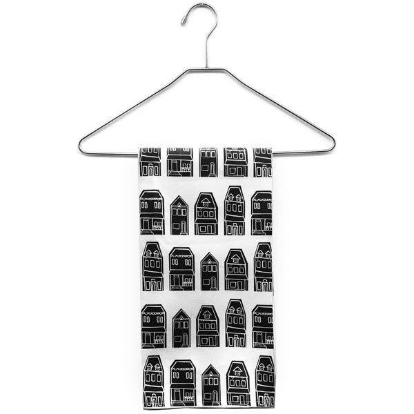 Black Row House Tea Towel from Morris + Norris