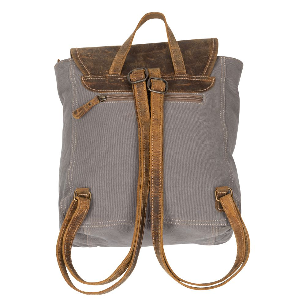 "Felicity Backpack, Canvas Leather, 14"" x 12"""