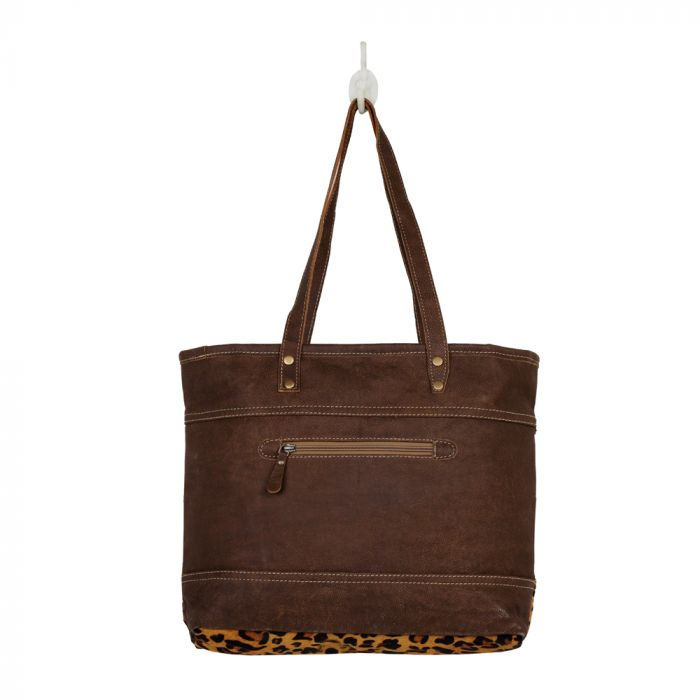 "Clinch Tote Bag, Cowhide Leather, 18"" x 13.5"""