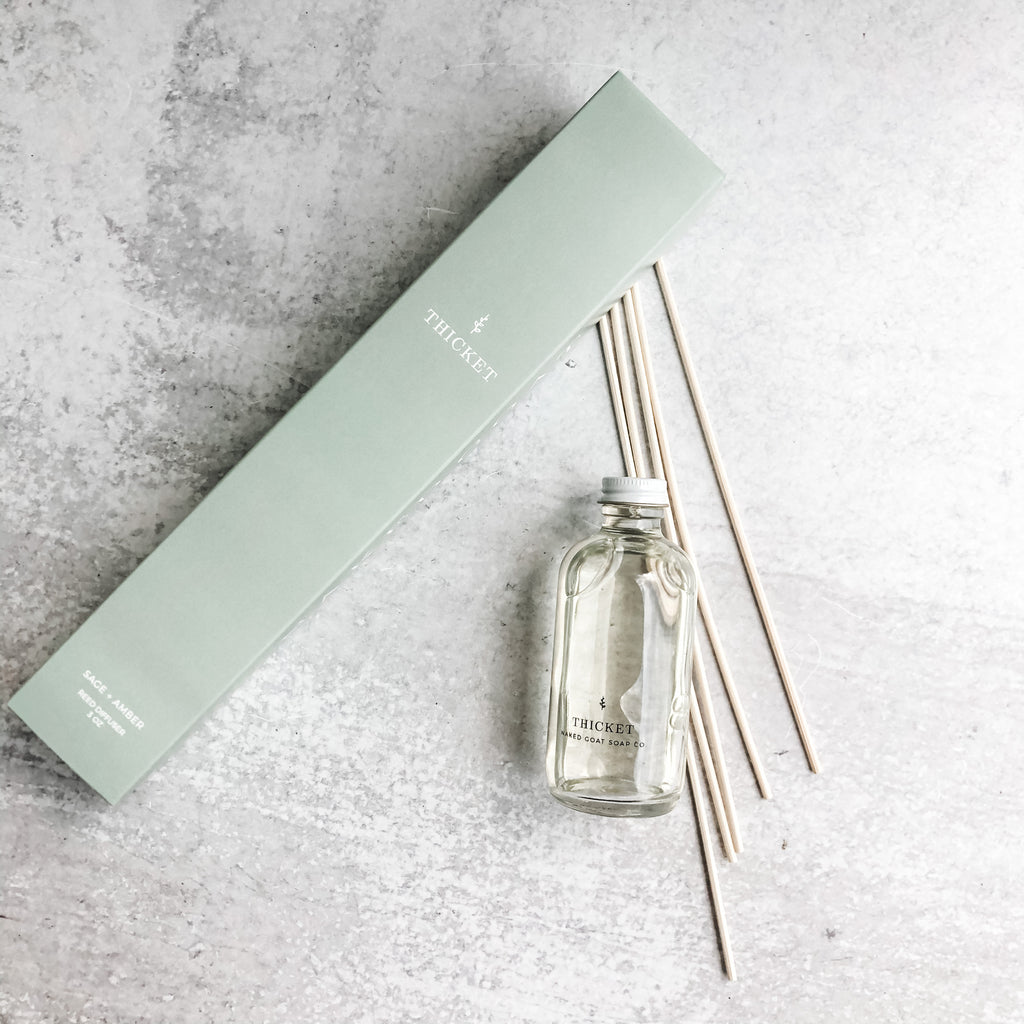 Bamboo Reed Diffuser in Thicket by Naked Goat Soap