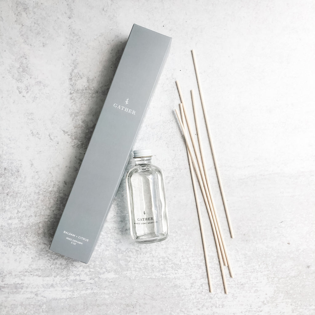 Bamboo Reed Diffuser in Gather by Naked Goat Soap