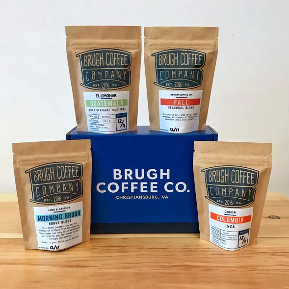 Coffee Sample Flight from Brugh Coffee Co. - Four 2oz bags