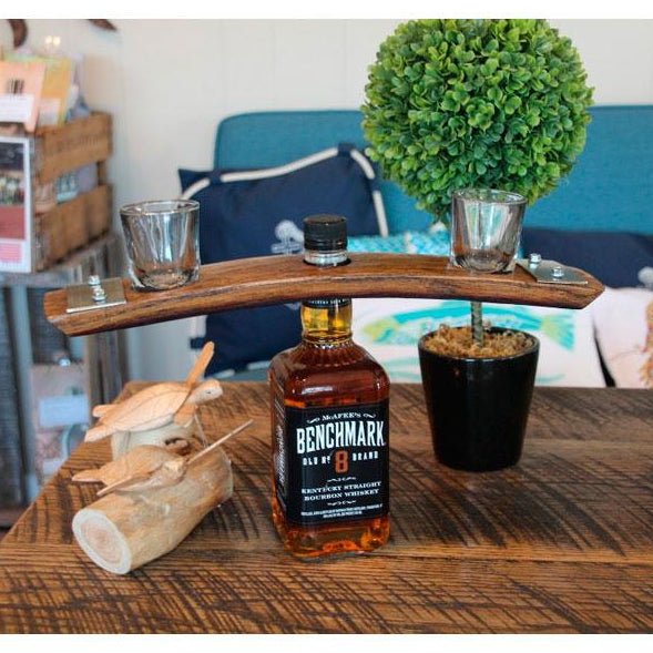 Bourbon Butler - Caddy with Shot Glasses, from Barrel-Art