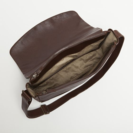 Sackett Messenger Bag in American Bison from Moore & Giles