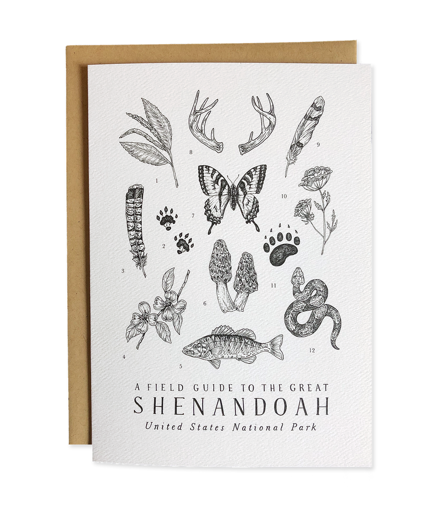 Shenandoah National Park Field Guide Greeting Card