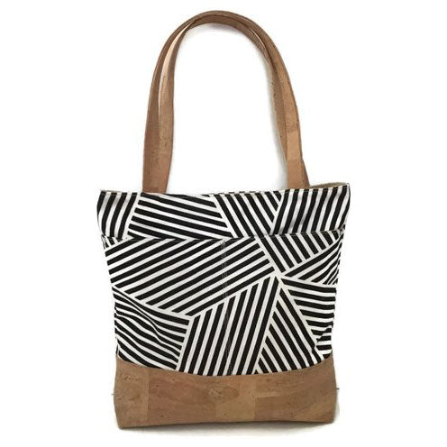 Virginia Girl Design Exclusive Crosshatch & Cork Matching Tote & Clutch Set
