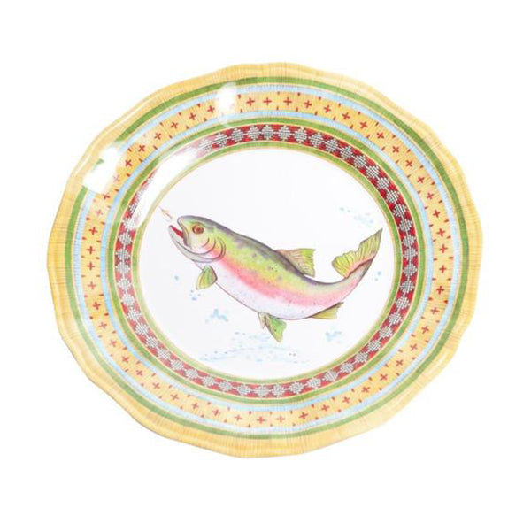 Trout Series, Dinner Plate, Melamine, 11""