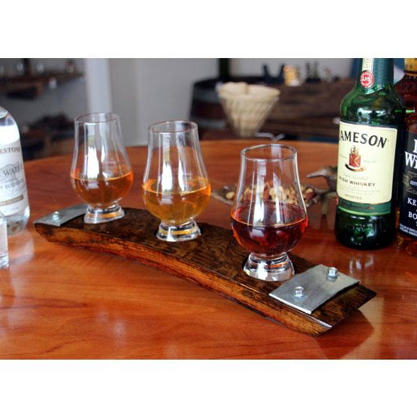 Premium 3-Glass Bourbon/Whiskey/Scotch Flight from Barrel-Art