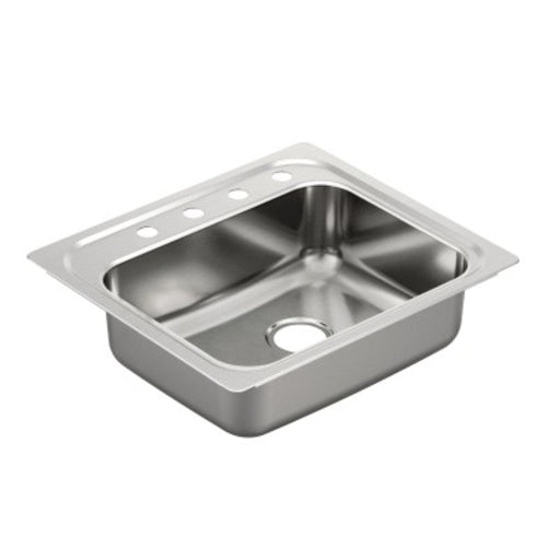 Moen Single Bowl Drop In Stainless Steel Sink