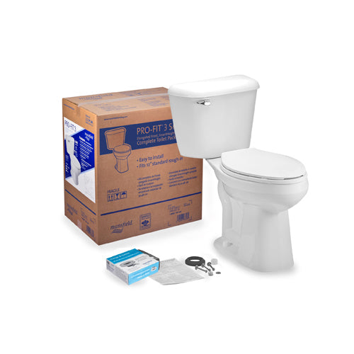 Mansfield Bone Elongated SMARTHEIGHT ALTO Complete Toilet Kit