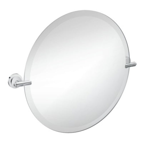 ISO Round Mirror with Chrome Trim
