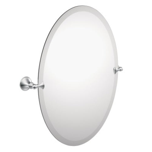 GLENSHIRE Oval Mirror with Chrome Trim