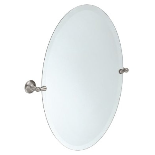 Sage Oval Mirror with Brushed Nickel Trim