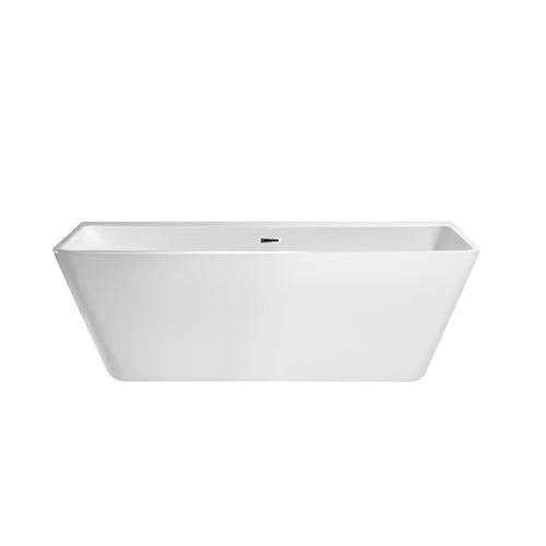 White LANA Freesstanding  Bathtub with Chrome Trim