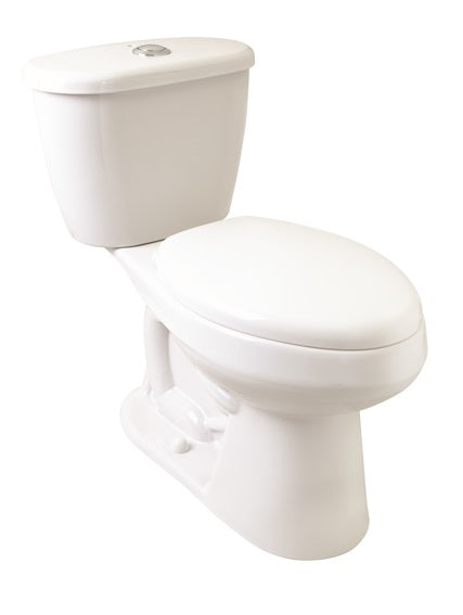White POWER ONE Toilet with Slo Close Seat