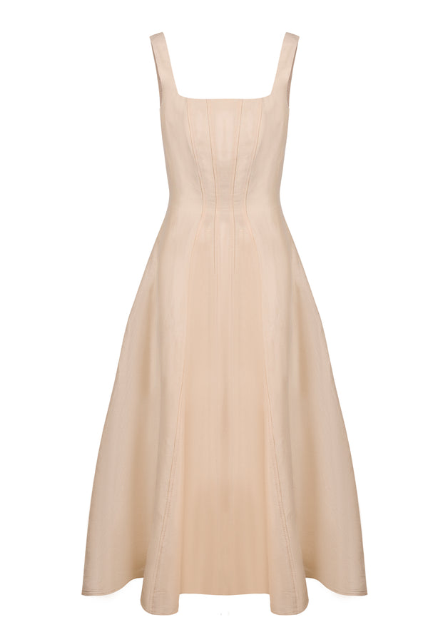 Celine Tulip Dress - Cream