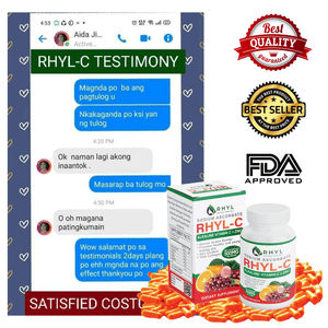 RHYL C SODIUM ASCORBATE 500MG 100 Capsule/Box VITAMIN C with Zinc, Collagen, Malunggay, Camu-Camu & Grapeseed. Made from top of the premium 100% All Natural and Organic. Good for Kids and Adults. Boost Your Immunity