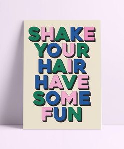 Shake Your Hair Have Some Fun Wolf Alice Wall Print