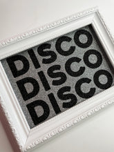 Load image into Gallery viewer, DISCO Silver & Black Glitter Print