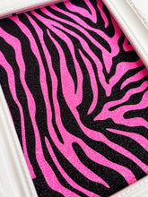 Load image into Gallery viewer, Zebra Print Pink & Black Glitter Print