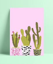 Load image into Gallery viewer, Sassy Cactus Set Wall Print