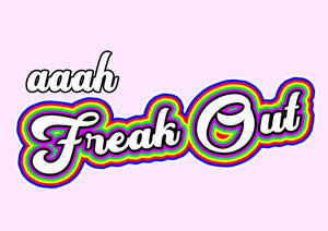 Aaah Freak Out Wall Print