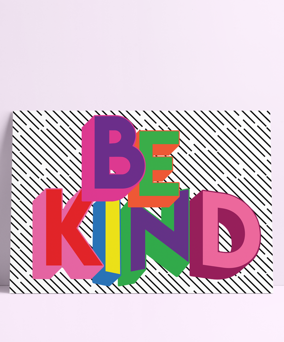 Be Kind Wall Print