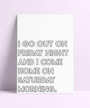 Load image into Gallery viewer, 'I Go Out On Friday Night' The Specials Wall Print