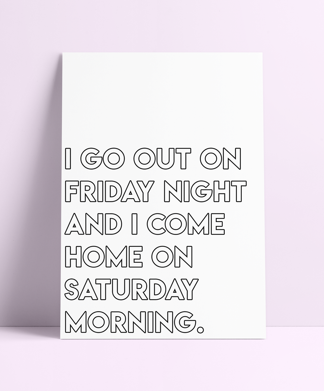 'I Go Out On Friday Night' The Specials Wall Print