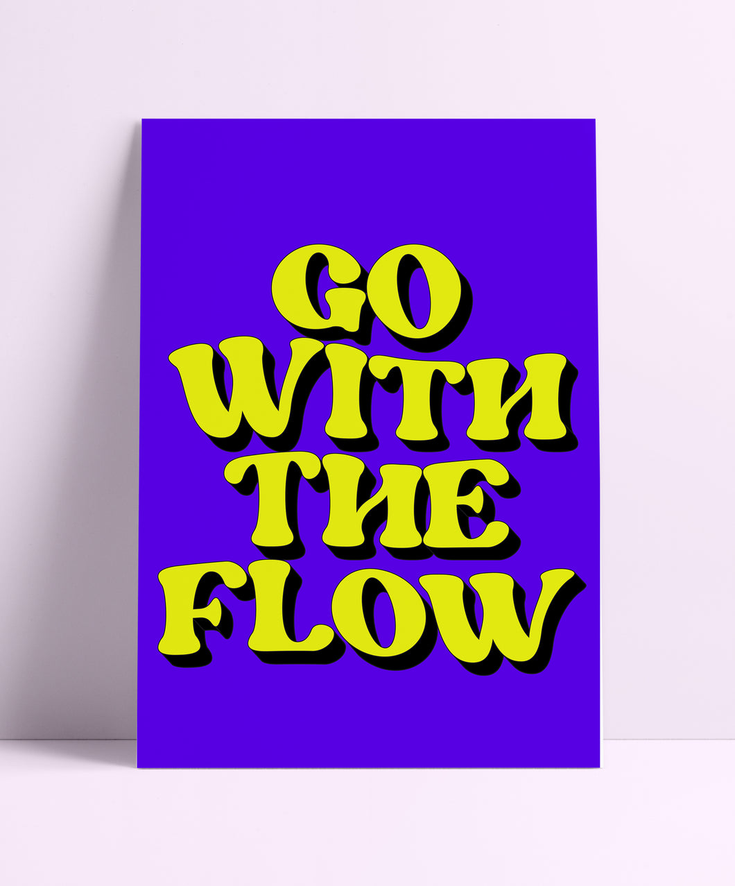 Go With The Flow Wall Print