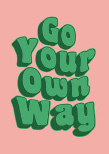 Go Your Own Way Fleetwood Mac Wall Print