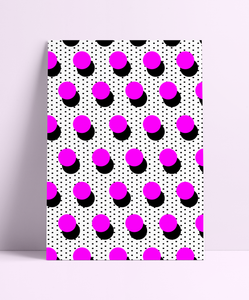 Polka Dot Pattern Wall Print