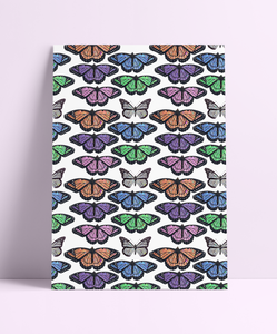 Repeat Pattern 90s Butterfly Wall Print