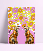 Load image into Gallery viewer, Retro 60s Leopard Wall Print