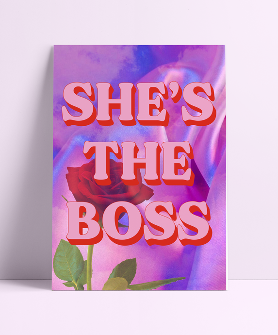 She's The Boss Wall Print