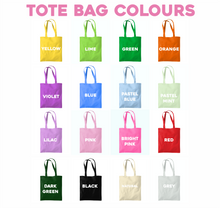 Load image into Gallery viewer, Custom Retro Text Tote Bag