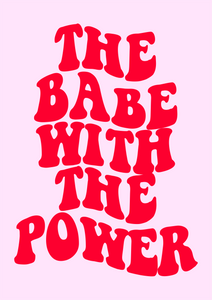 The Babe With The Power Retro Wall Print