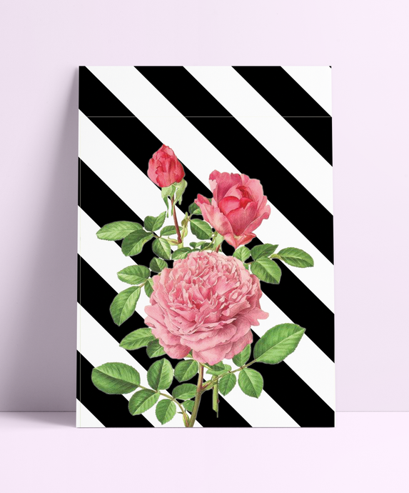 Black & White Geometric Rose Wall Print