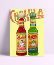 Load image into Gallery viewer, Cholula Hot Sauce Wall Print