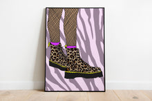 Load image into Gallery viewer, Dr Martens Leopard Print Wall Print