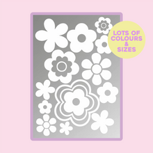 Load image into Gallery viewer, Mixed Flower Bundle Pack Vinyl Sticker