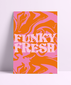 Funky Fresh Retro Wall Print