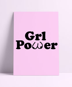 GIRL POWER BOOBIES Wall Print