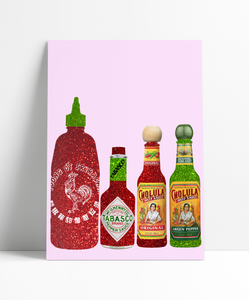 Classic HOT sauce Wall Print